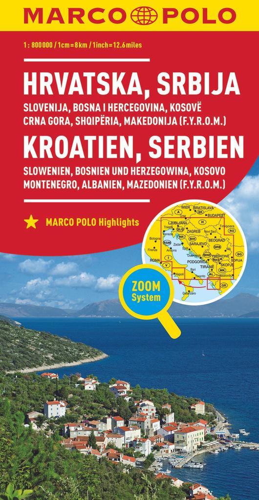 MARCO POLO Länderkarte Kroatien, Serbien, Bosni...