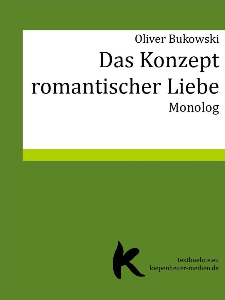 DAS KONZEPT ROMANTISCHER LIEBE als eBook epub