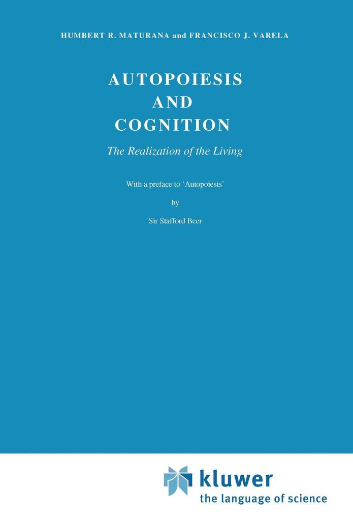 Autopoiesis and Cognition als Buch