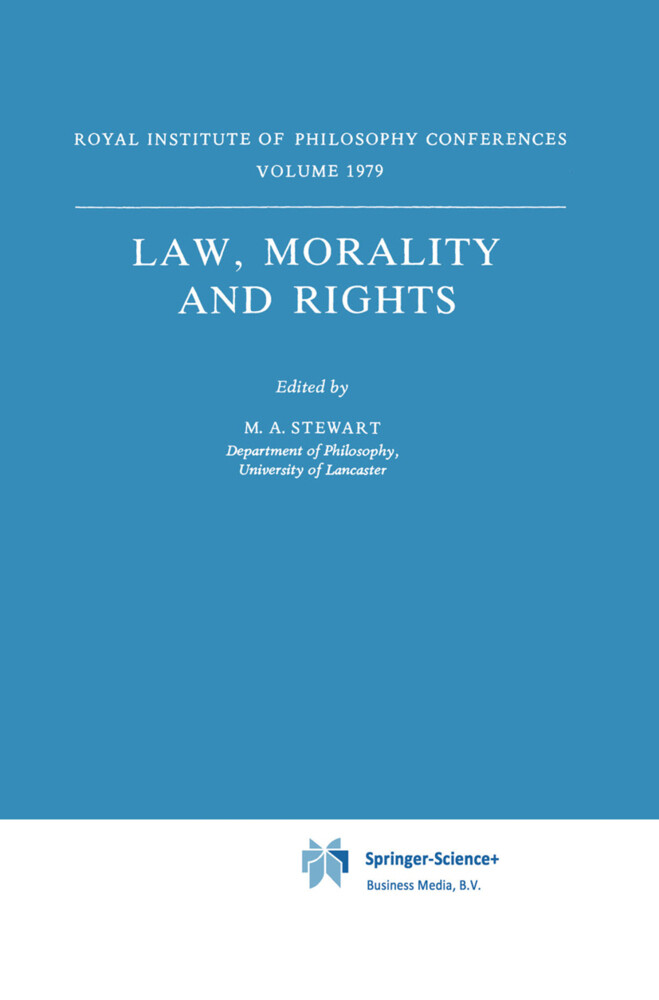 Law, Morality and Rights als Buch