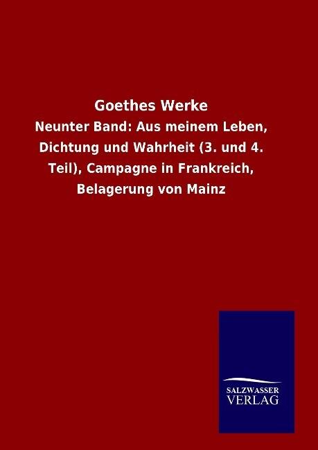 Goethes Werke als Buch von Goethe