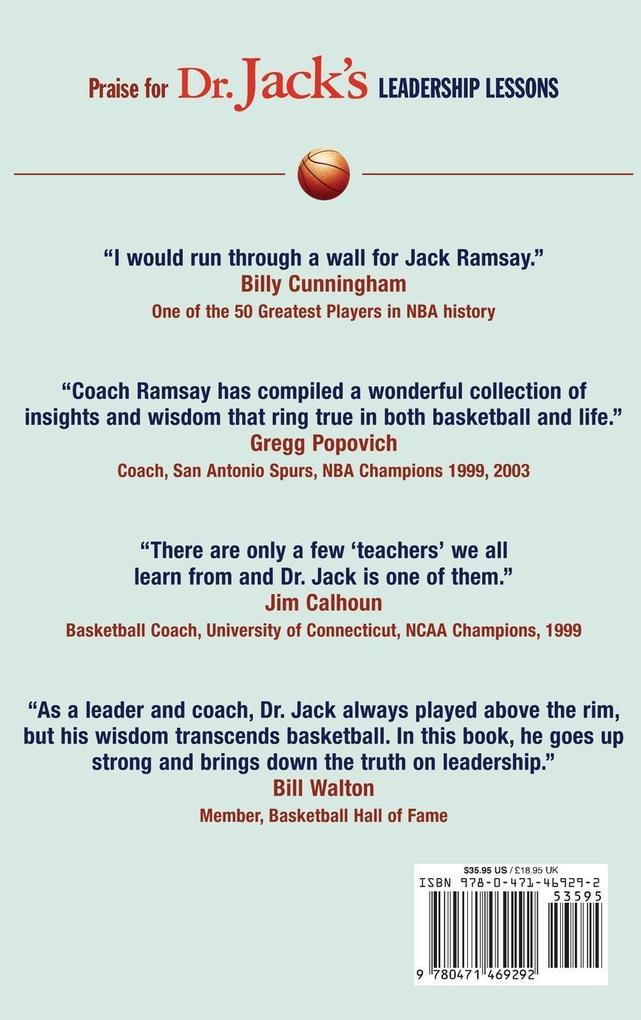 Dr. Jack's Leadership Lessons Learned from a Lifetime in Basketball als Buch