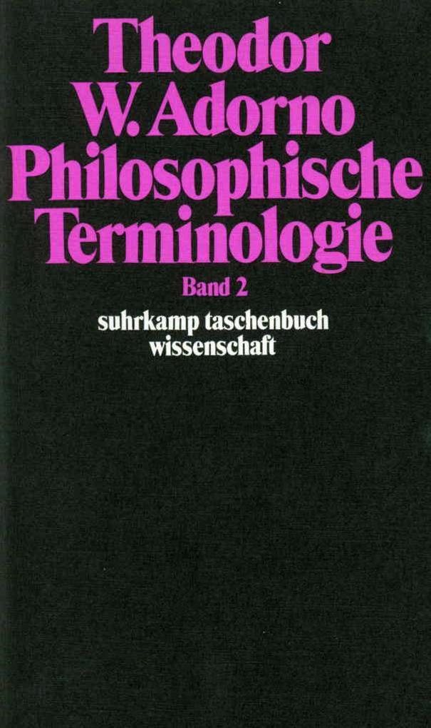 Philosophische Terminologie 2 als Taschenbuch