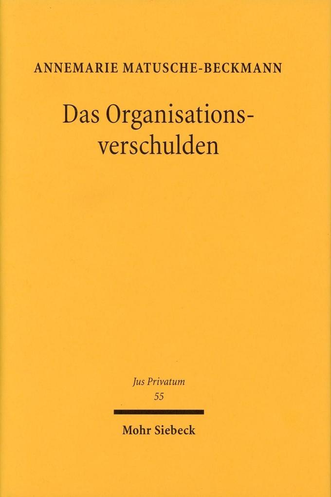Das Organisationsverschulden als Buch