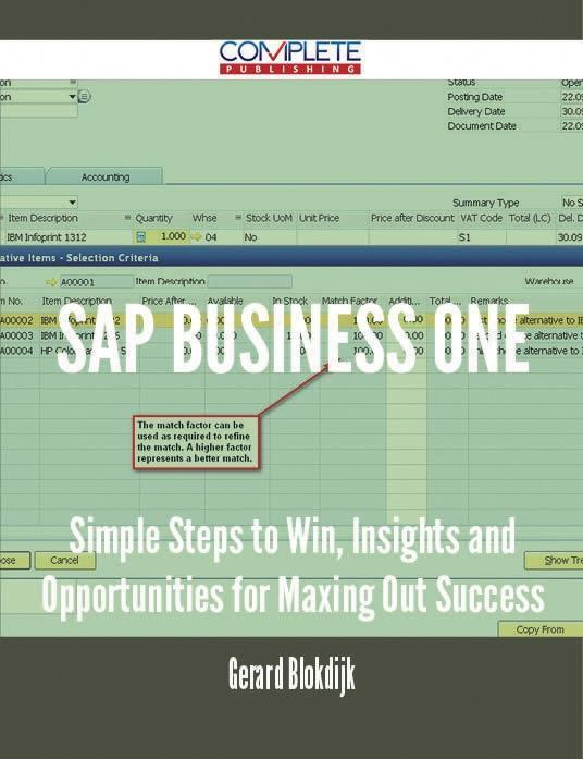 SAP Business One - Simple Steps to Win, Insight...