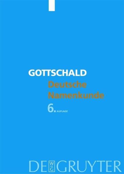 Deutsche Namenkunde als Buch