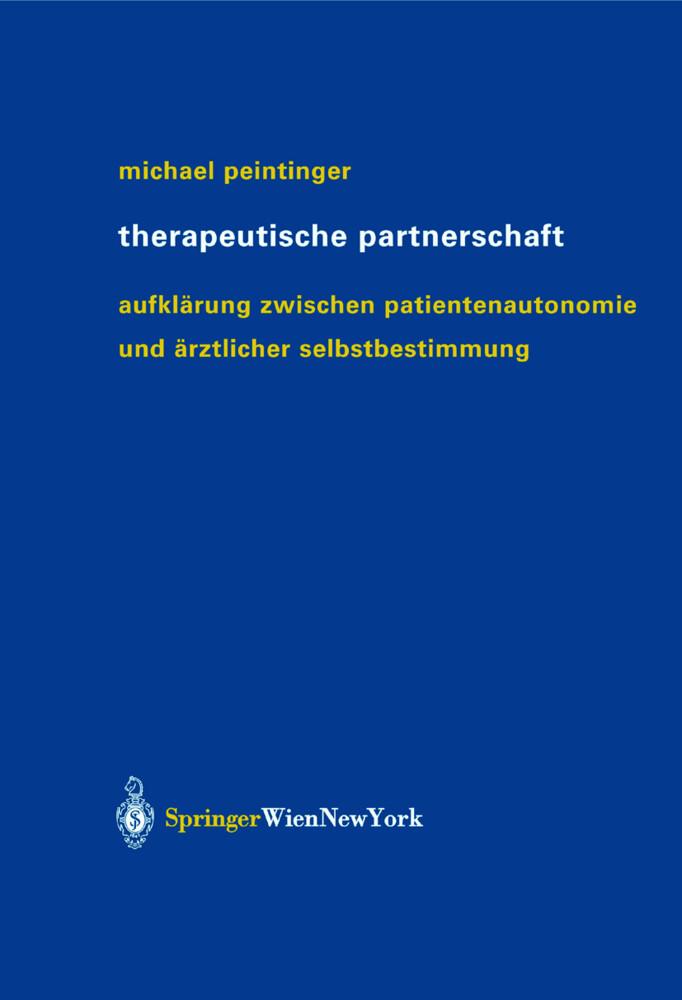 Therapeutische Partnerschaft als Buch