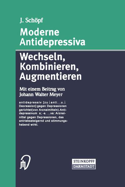 Moderne Antidepressiva als Buch