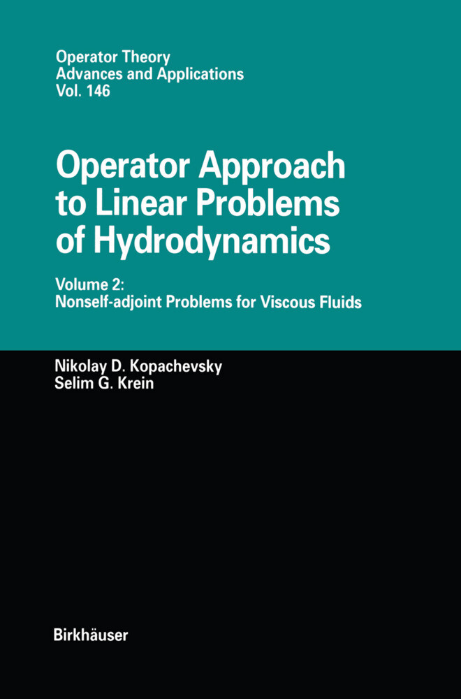 Operator Approach to Linear Problems of Hydrodynamics als Buch