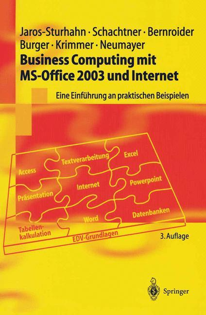 Business Computing mit MS-Office 2003 und Internet als Buch