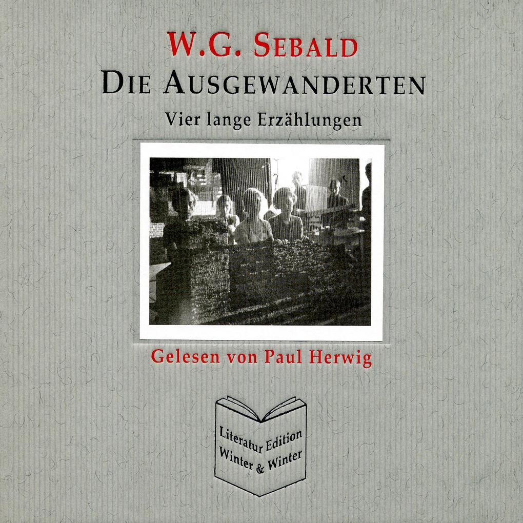 W G Sebald im radio-today - Shop