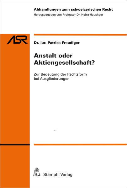 Anstalt oder Aktiengesellschaft? als Buch von F...