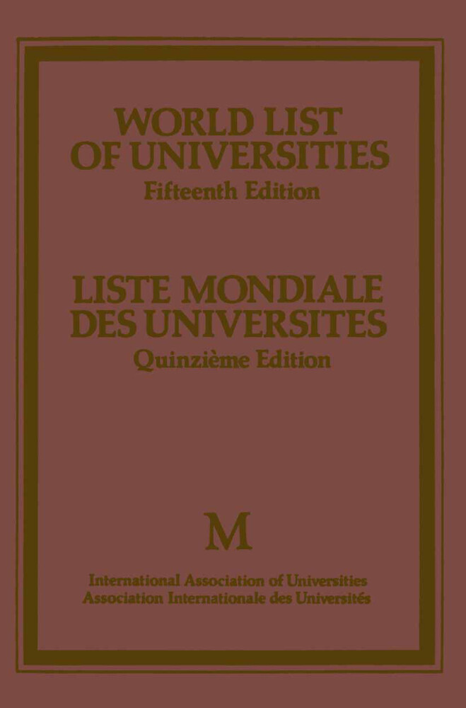 World List of Universities / Liste Mondiale des...