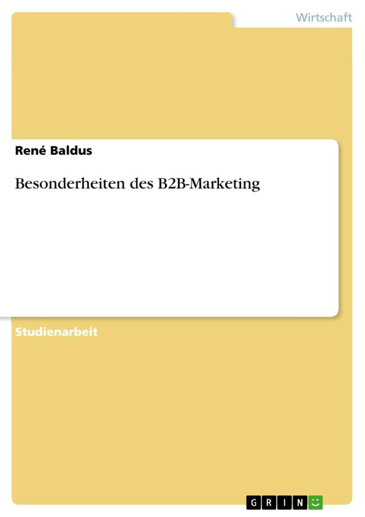 Besonderheiten des B2B-Marketing als eBook Down...