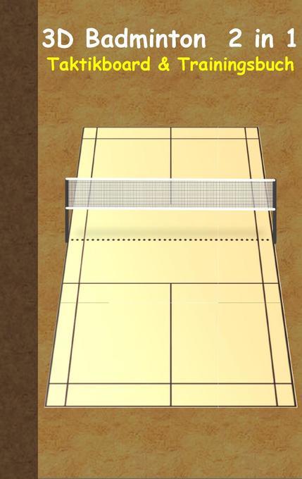 3D Badminton 2 in 1 Taktikboard und Trainingsbu...