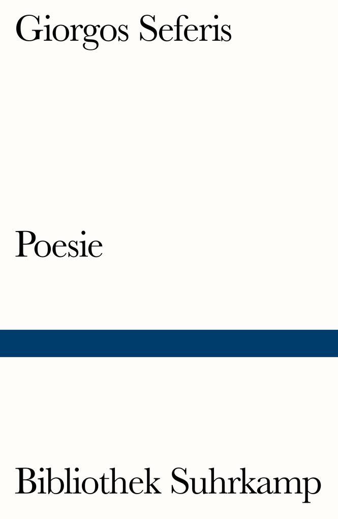 Poesie als Taschenbuch von Giorgos Seferis, Chr...