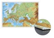 Stiefel Wandkarte Kleinformat Europa und der Nahe Osten physisch zum Pinnen auf Wabenplatte, Planoka