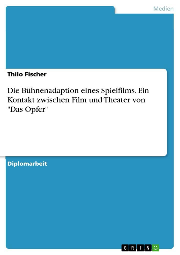 Die Bühnenadaption eines Spielfilms. Ein Kontak...