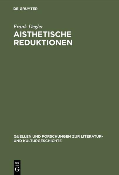 Aisthetische Reduktionen als Buch
