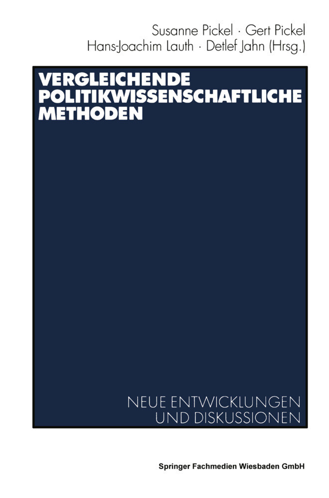 Vergleichende politikwissenschaftliche Methoden als Buch