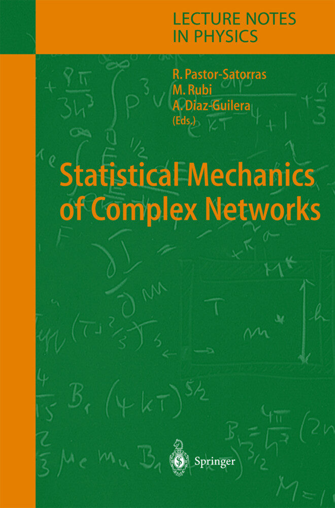 Statistical Mechanics of Complex Networks als Buch