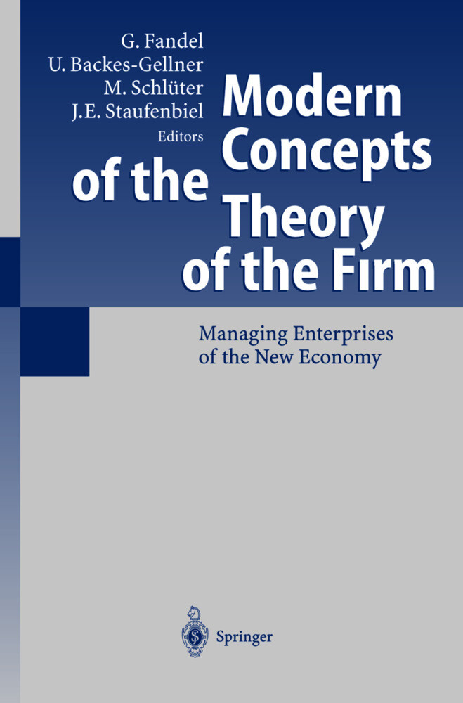 Modern Concepts of the Theory of the Firm als Buch