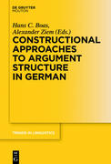 Constructional Approaches to Syntactic Structures in German