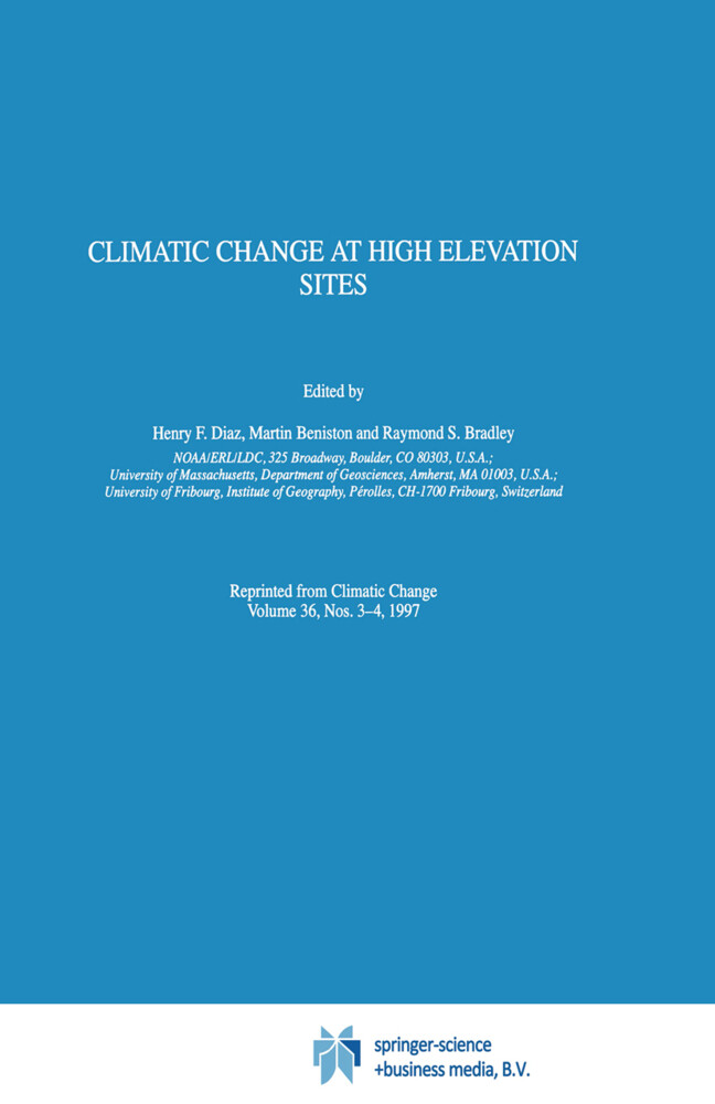 Climatic Change at High Elevation Sites als Buch