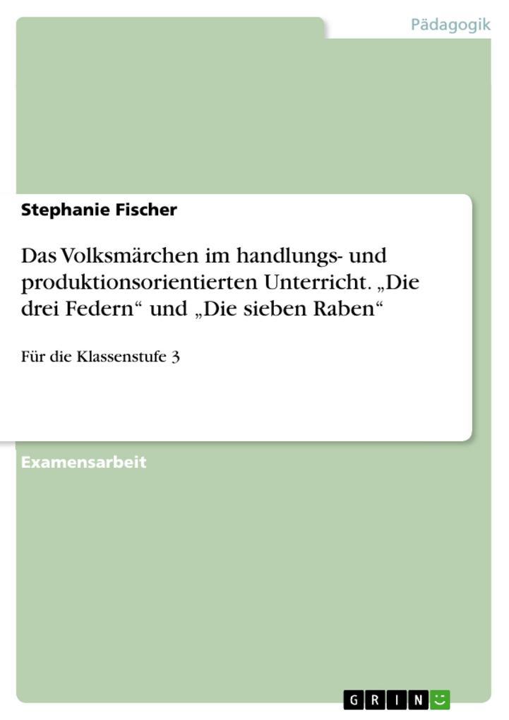 Das Volksmärchen im handlungs- und produktionso...