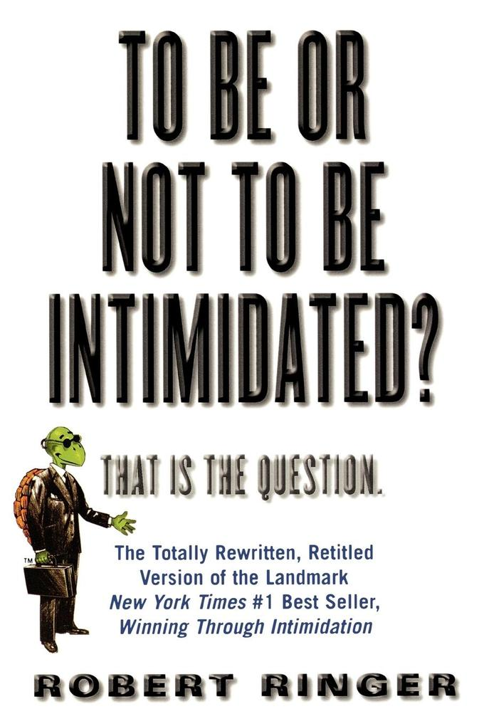 To Be or Not to Be Intimidated?: That Is the Question als Taschenbuch