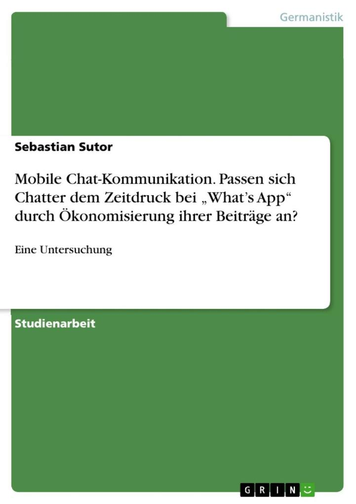 Mobile Chat-Kommunikation. Passen sich Chatter ...
