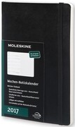 Moleskine Wochennotizkalender 2017 Deutsch L/A5, Soft Cover, Schwarz