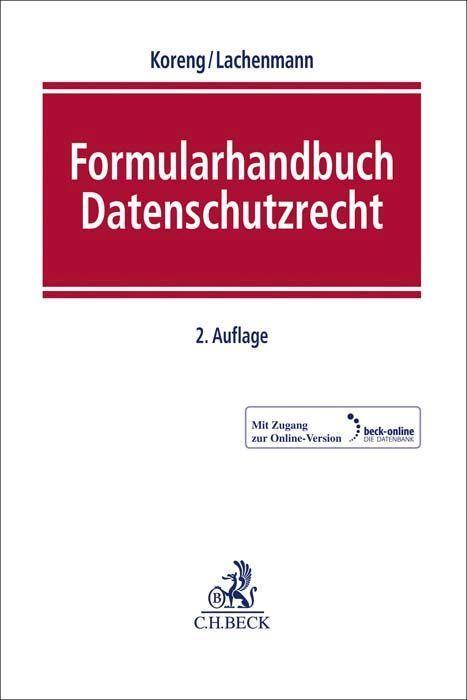 Formularhandbuch Datenschutzrecht als Buch