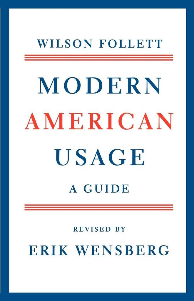 Modern American Usage als Taschenbuch