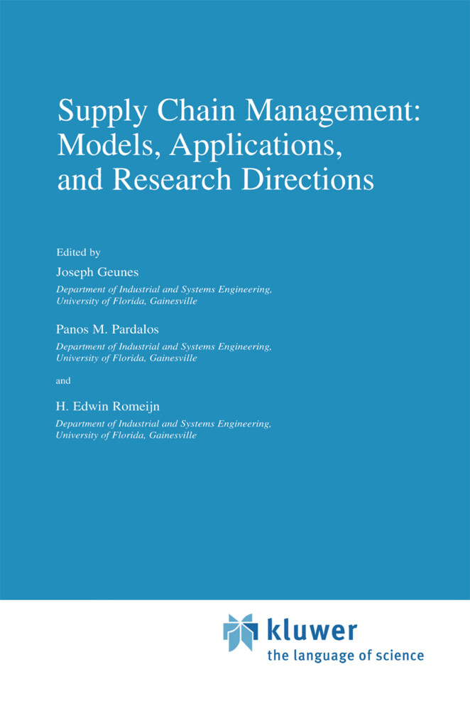 Supply Chain Management: Models, Applications, and Research Directions als Buch