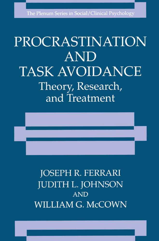 Procrastination and Task Avoidance als Buch
