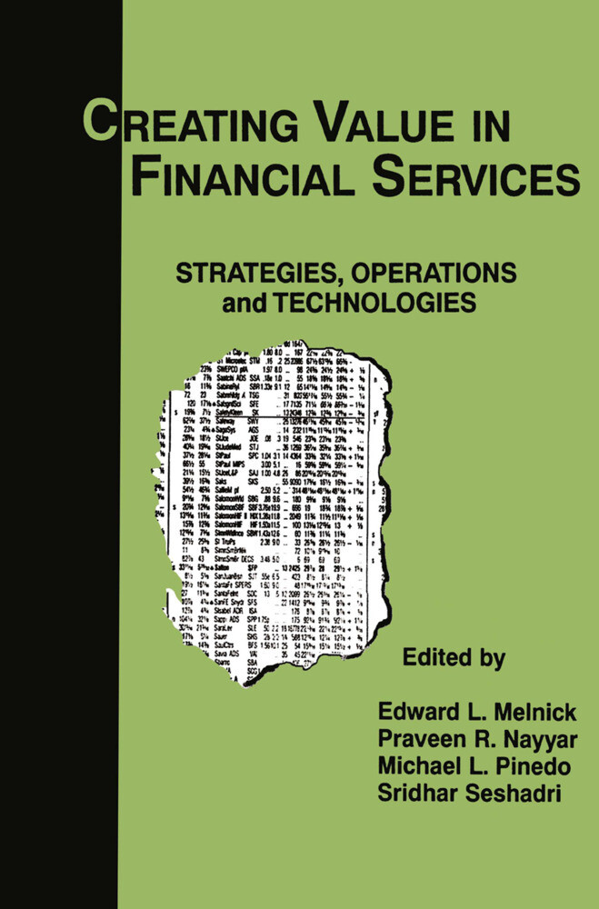 Creating Value in Financial Services als Buch