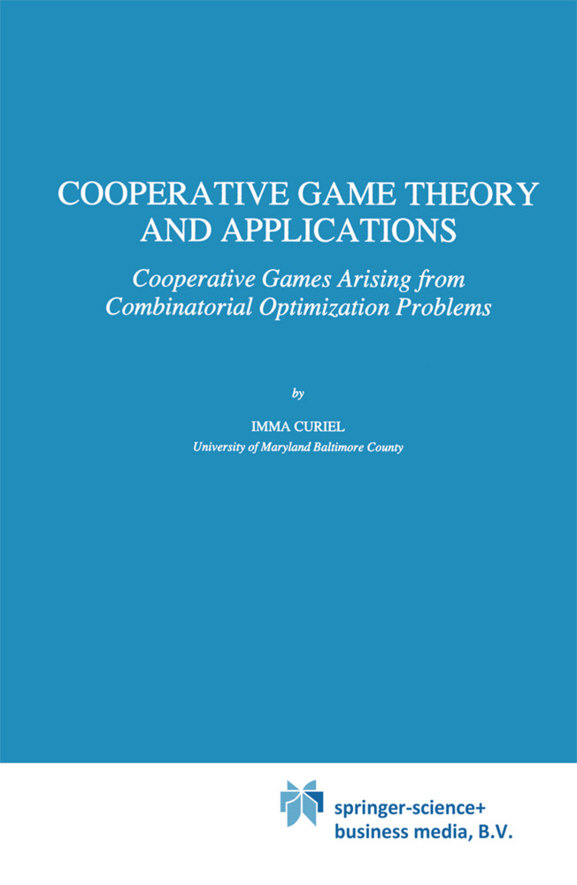 Cooperative Game Theory and Applications als Buch