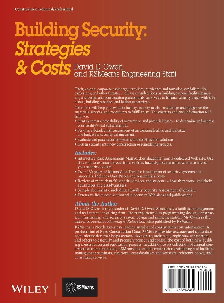 Building Security: Strategies & Costs als Buch