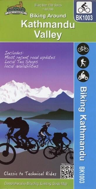 Biking Around Kathmandu Valley 1 : 60 000 als B...