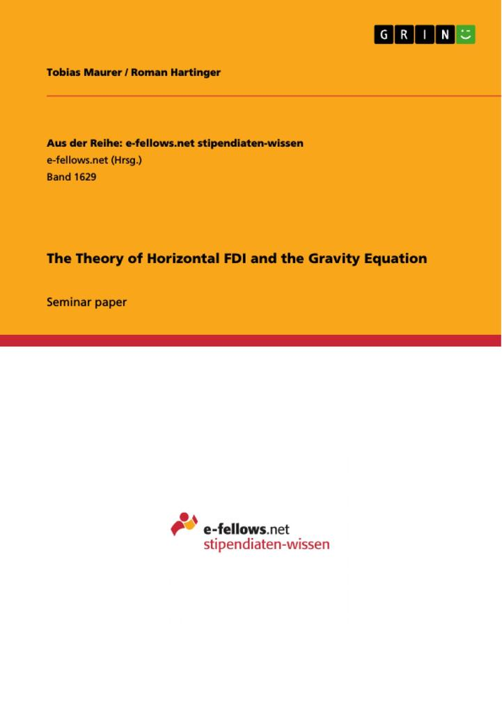The Theory of Horizontal FDI and the Gravity Eq...
