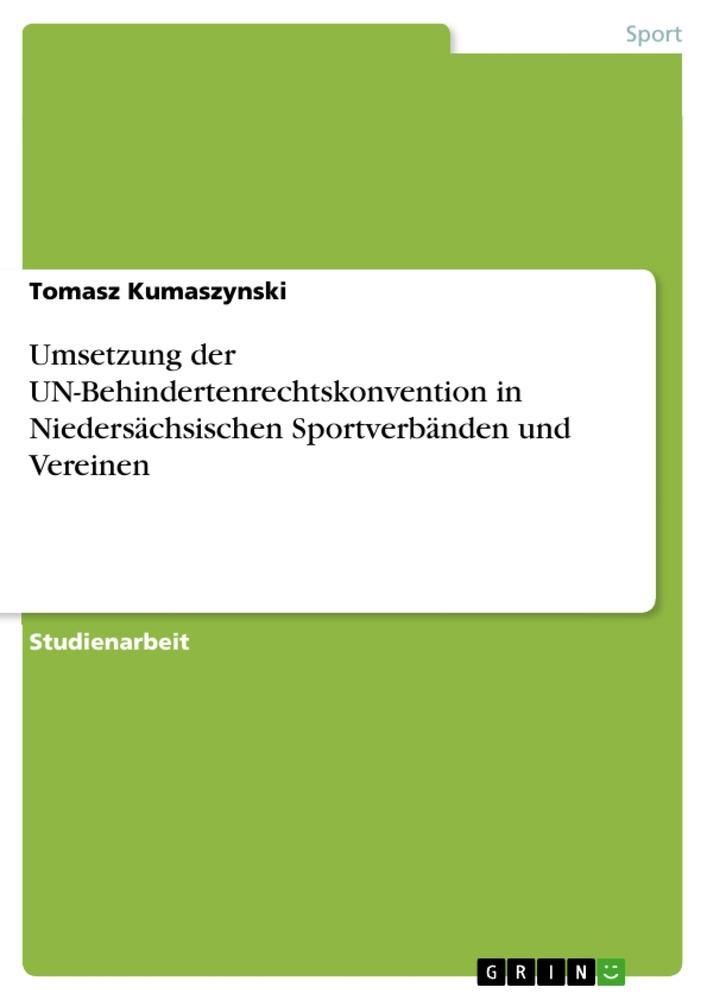 Umsetzung der UN-Behindertenrechtskonvention in...