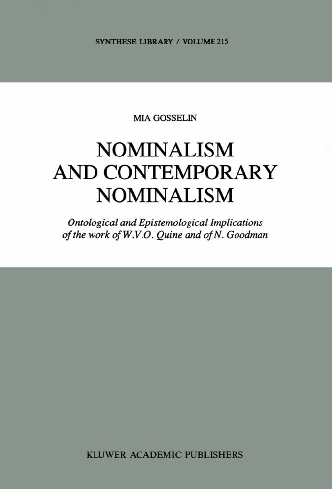 Nominalism and Contemporary Nominalism als Buch
