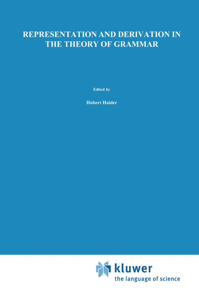Representation and Derivation in the Theory of Grammar als Buch
