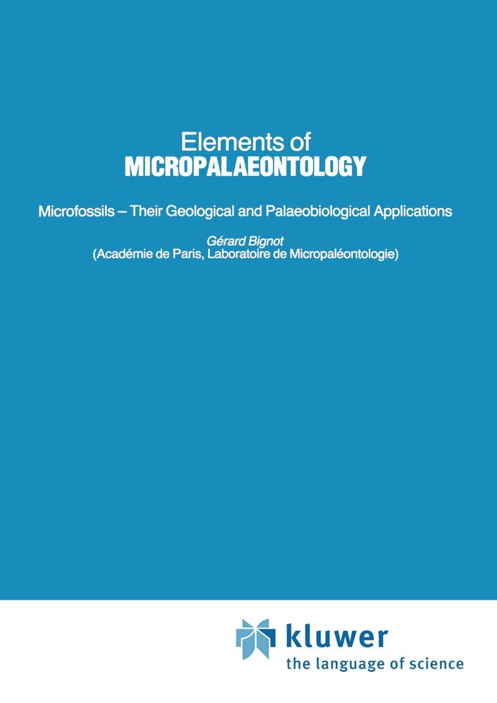 Elements of Micropalaeontology als Buch