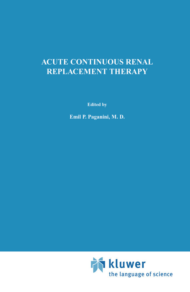 Acute Continuous Renal Replacement Therapy als Buch