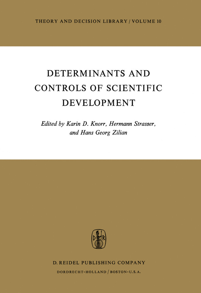 Determinants and Controls of Scientific Development als Buch