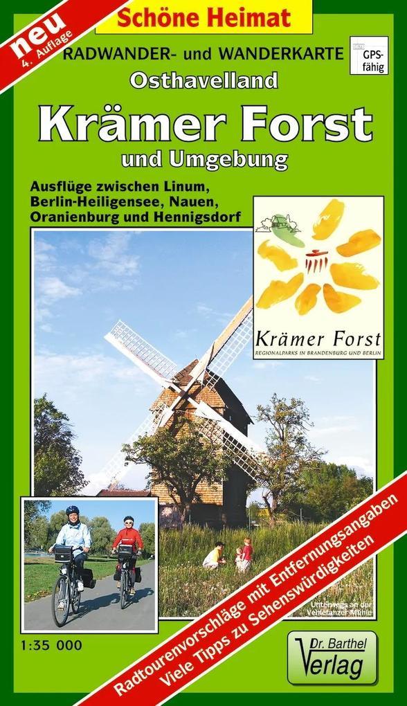 Krämer Forst und Umgebung 1 : 35 000. Radwander- und Wanderkarte als Buch