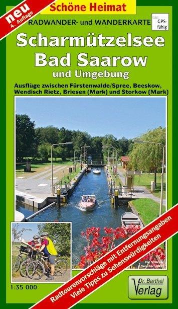 Radwander- und Wanderkarte Scharmützelsee, Bad Saarow und Umgebung 1 : 35 000 als Buch