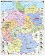 Deutschland politisch mit Wappen 1 : 700.000